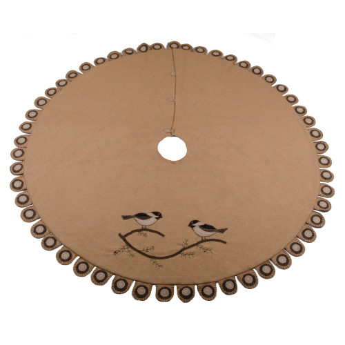 Chickadee Nutmeg Tree Skirt