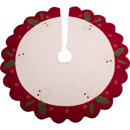 Peppermint Christmas Osenburg - Barn Red Tree Skirt