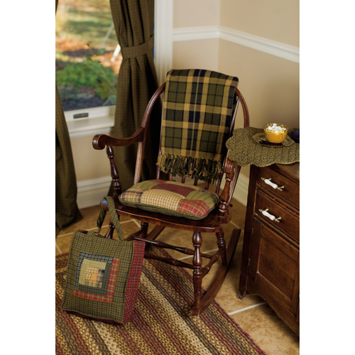 Tea Cabin Chair Pad Patchwork 15x15