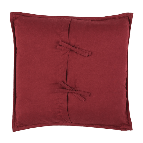 Ninepatch Star Quilted Filled Pillow 16x16
