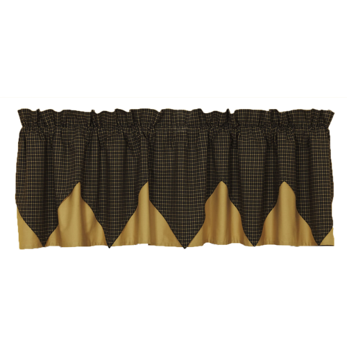Kettle Grove Plaid Valance Layered Lined 16x72