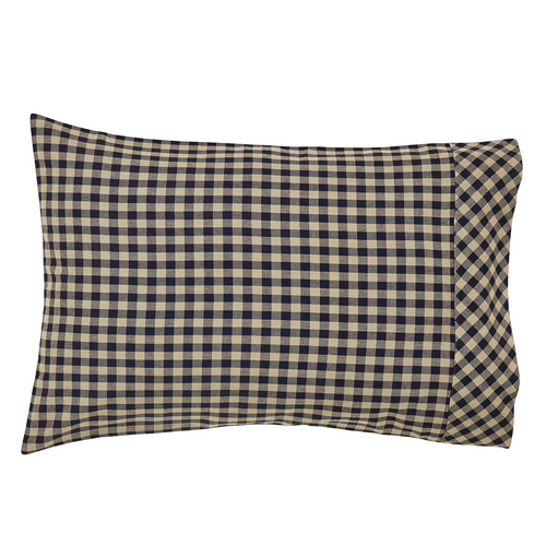 Black Check Pillow Case Set of 2 21x30
