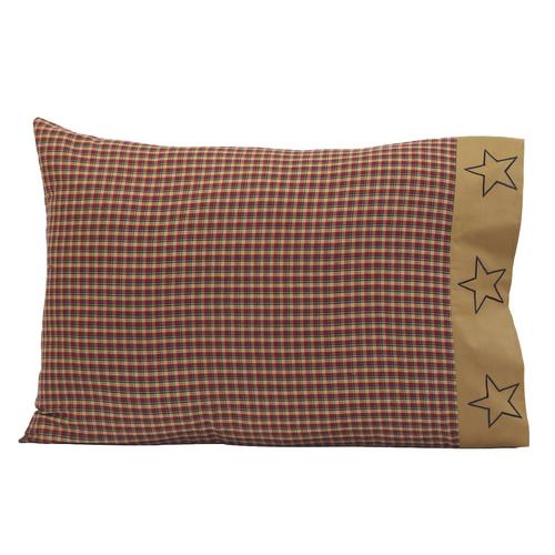 Patriotic Patch Pillow Case Set of 2 21x30