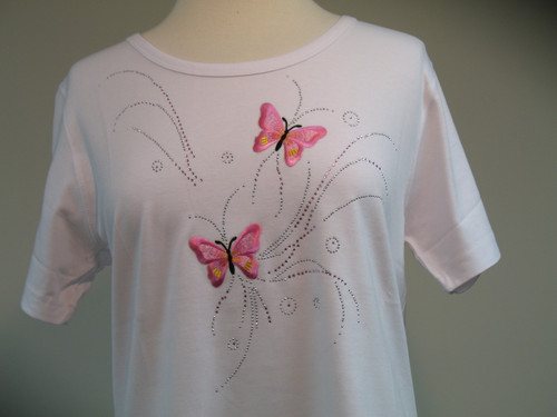 Pink Butterfly Glitz Scoop