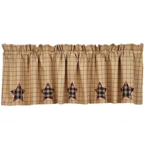 Bingham Star Valance Applique Star Lined 16x72