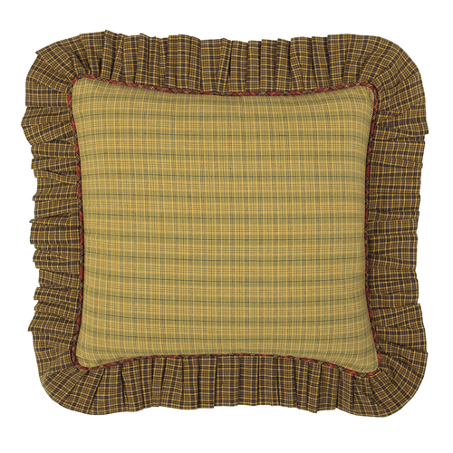 Tea Cabin Fabric Ruffled Filled Pillow 16x16