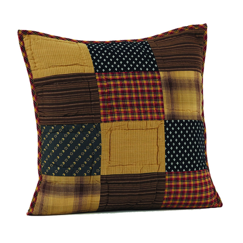 Patriotic Patch Quilted Filled Pillow 16x16