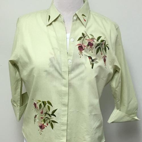 Feeding Hummingbird 3/4 Sleeve Shirt