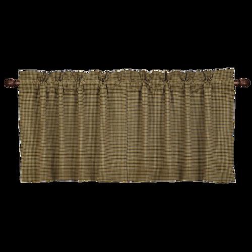 Tea Cabin Green Plaid Tier Set of 2 L24xW36
