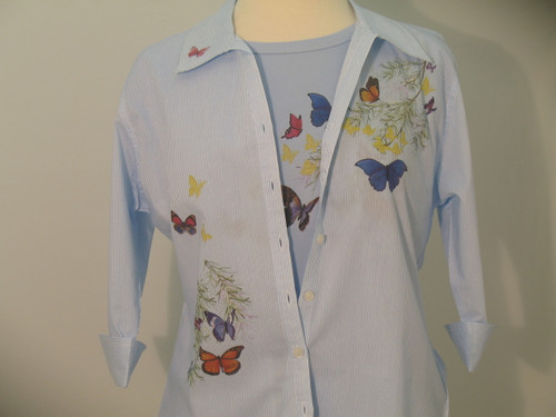 Butterfly Shoulder 3/4 Sleeve Shirt