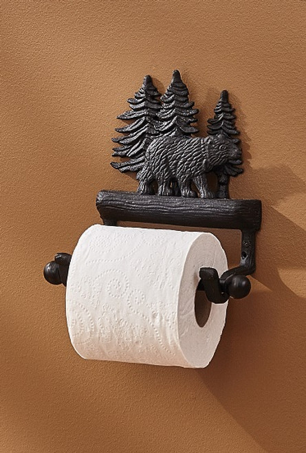 CAST BLACK BEAR TOILET TISSUE