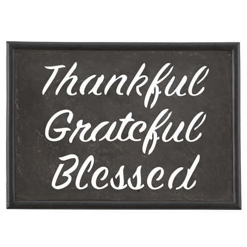 THANKFUL GRATEFUL GALV SIGN