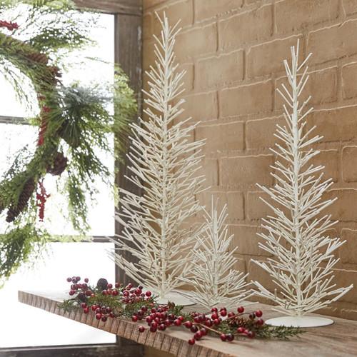 WHITE METAL TREES MED