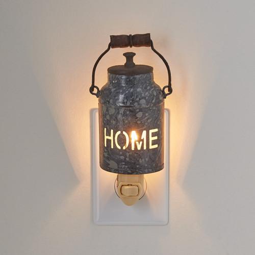 HOME MILK CAN NIGHT LIGHT