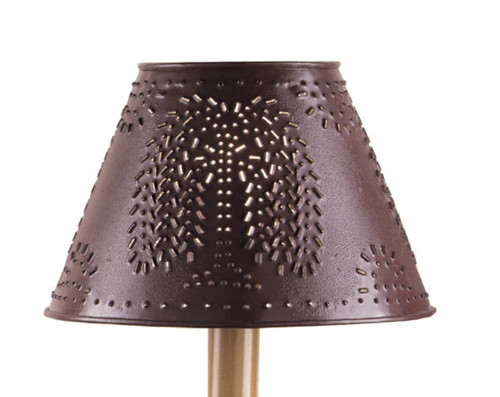 """METAL WILLOW SHADE 12"""" RED"""