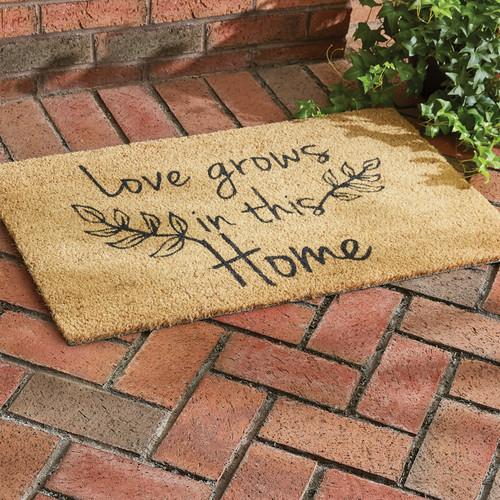 LOVE GROWS DOORMAT