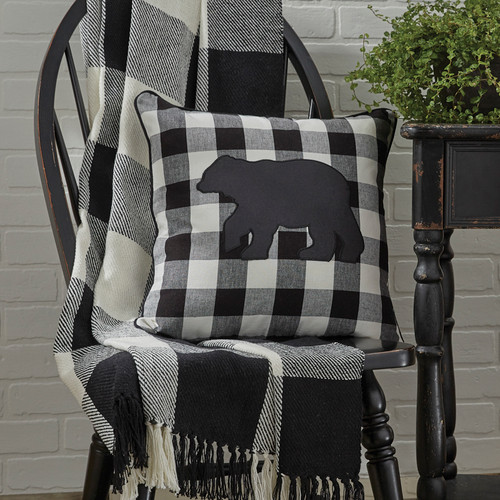 WICKLOW CHECK THROW 50X60 BLACK/CREAM