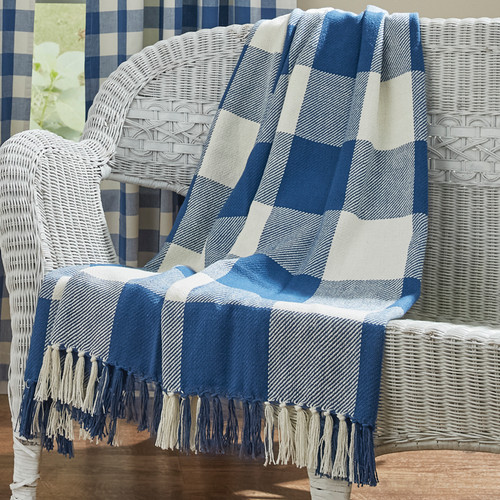 WICKLOW CHECK THROW 50X60 CHINA BLUE