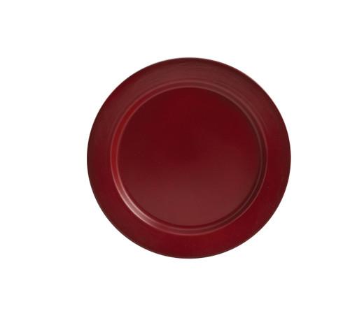 LINVILLE ENAMEL DINNER PLT RED