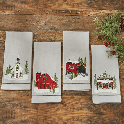 BARN PRINTED/EMBROIDERED DISHTOWEL