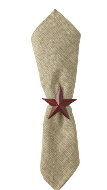 STAR NAPKIN RING RED