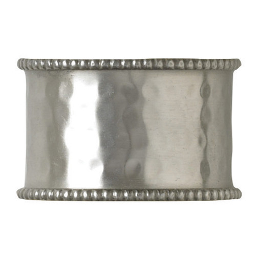 HAMMERED CUFF NAP RING-PEWTER