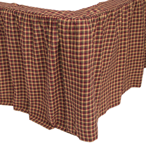 Patriotic Patch Queen Bed Skirt 60x80x16