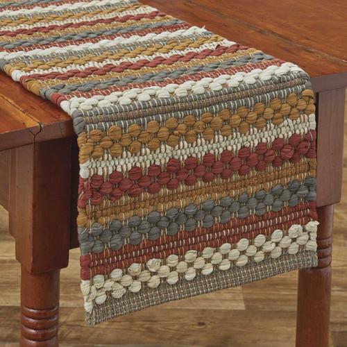 GATHERED PUMPKIN CHINDI TABLE RUNNER 13X36