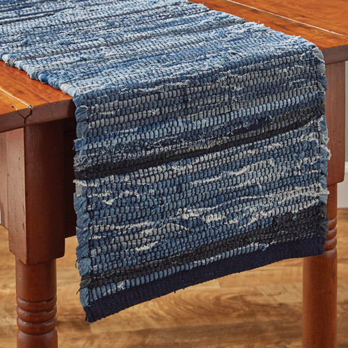 INDIGO CHINDI TABLE RUNNER 13X54