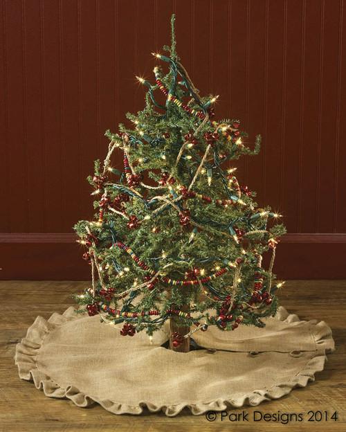 """JUTE BURLAP TREE SKIRT 24"""""""