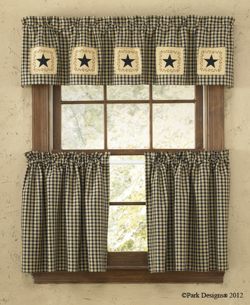 STAR PATCH LINED TIERS 72X36