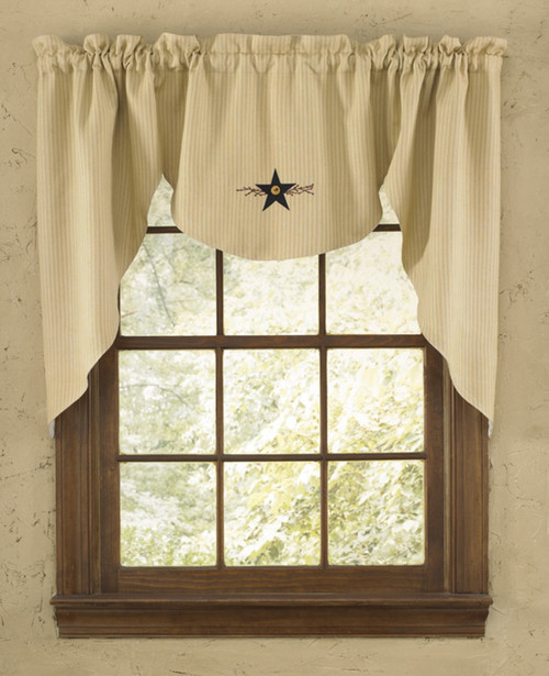 STAR VINE LINED SWAG 72X36