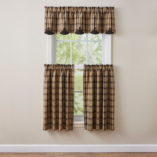 SUNFLOWER IN BLOOM LINED SCALLOPED VALANCE 58X15