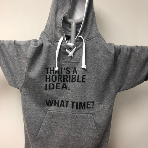 Horrible Idea Hockey Hoodie