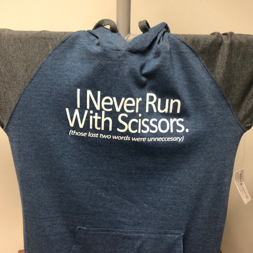 Run with Scissors Raglan Hoodie