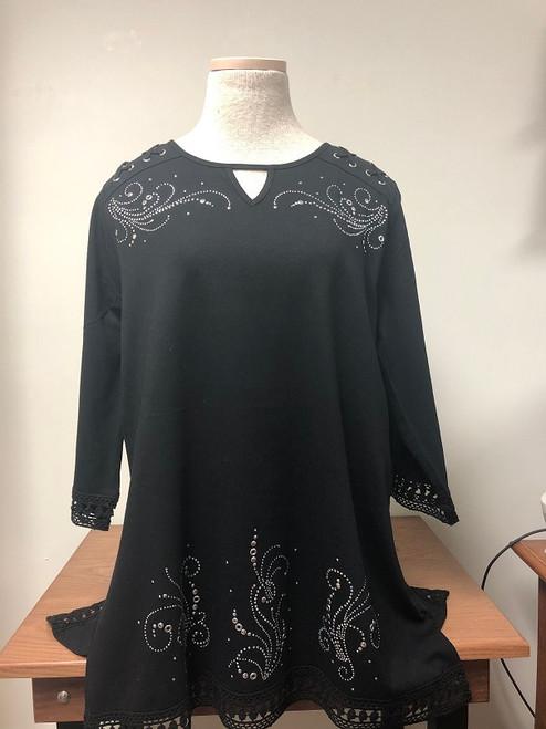 Silver Grommet Crochet Tunic