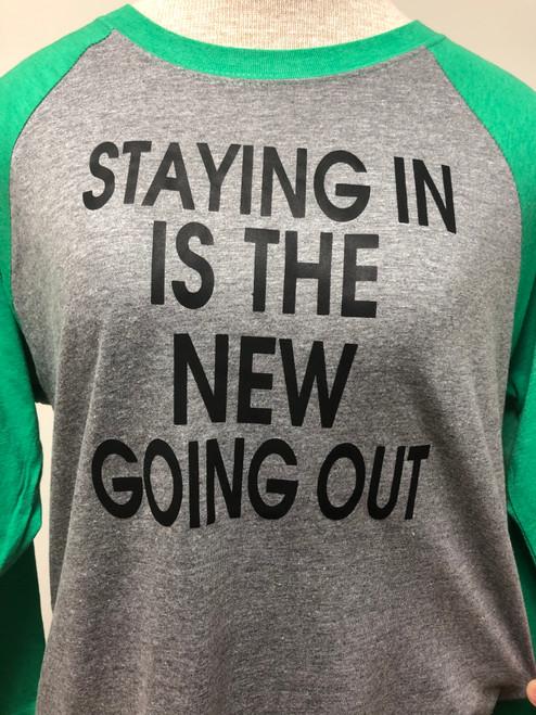 Stay In Raglan 3/4 Sleeve Top