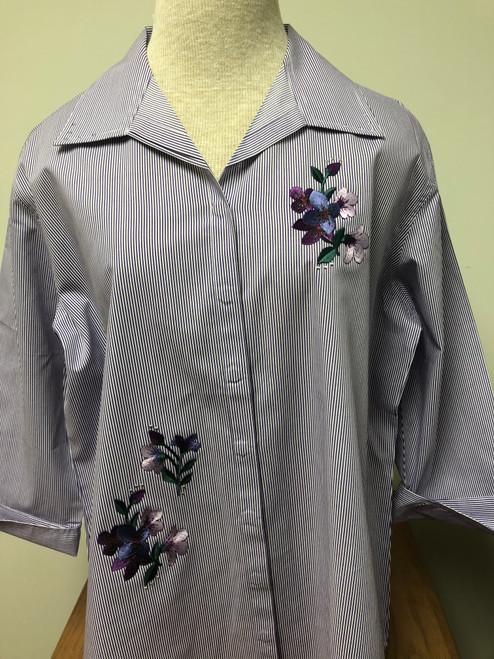 Purple Bouquet 3/4 Sleeve Shirt