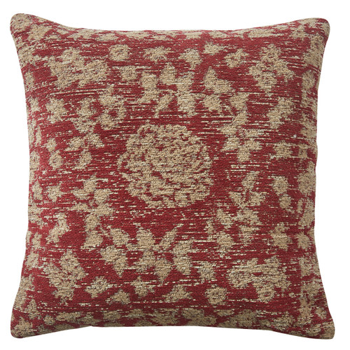 """RUSTIC FLORAL 18"""" PILLOW POLY"""