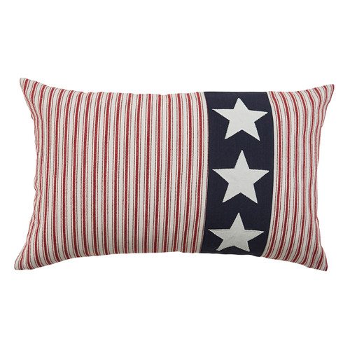 3 STARS AMERICANA APPLIQUE PILLOW 26X16 - POLY INSERT
