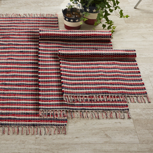 STARS AND STRIPES CHINDI RUG 2X3