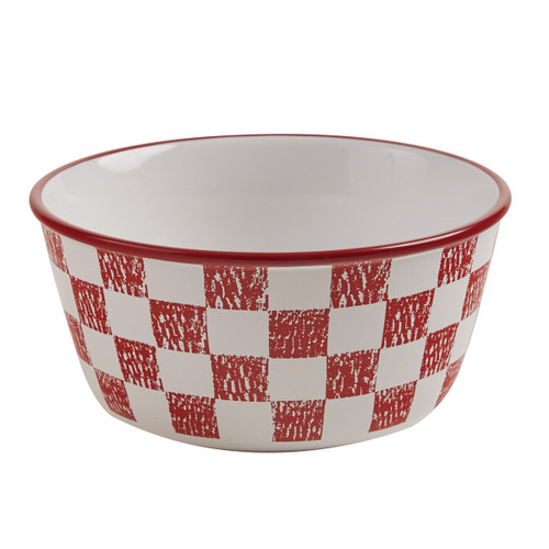 CHICKEN COOP CEREAL BOWL - CHECK