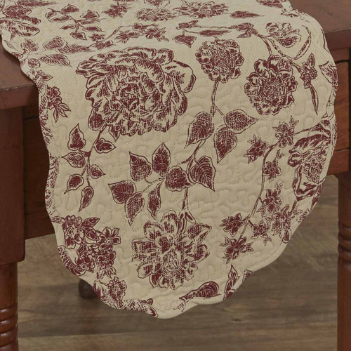 RUSTIC FLORAL TABLE RUNNER 13X36