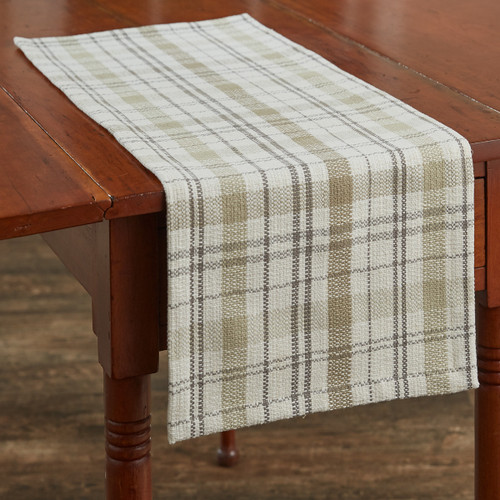 IN THE MEADOW PLAID TABLE RUNNER 13X36