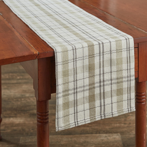 IN THE MEADOW PLAID TABLE RUNNER 13X54