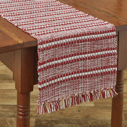 PEPPERMINT STRIPE TABLE RUNNER 13X36
