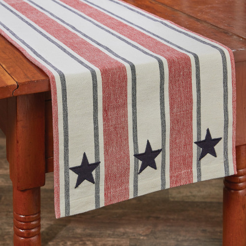 STARS AND STRIPES TABLE RUNNER 13X54
