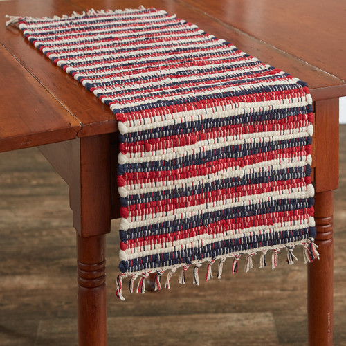 STARS AND STRIPES CHINDI TABLE RUNNER 13X54