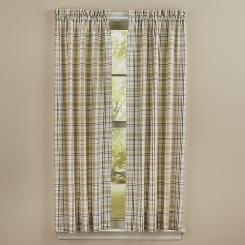 IN THE MEADOW PLAID PANELS 72X63