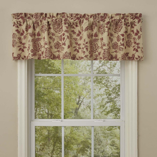 RUSTIC FLORAL VALANCE 60X14